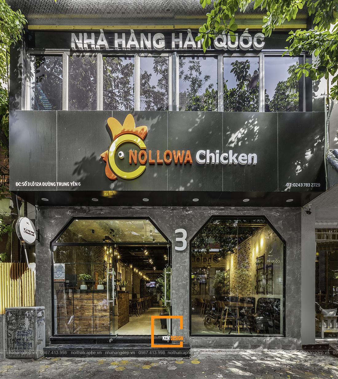 Thi công nhà hàng Nollowa Chicken tại Hà Nội