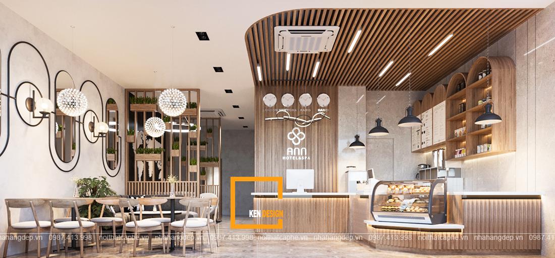 Thiết kế Ann Hotel & Spa - mô hình kinh doanh tổng hợp khách sạn nhà hàng cafe