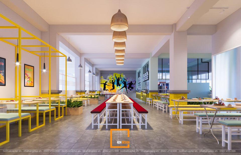 Thiết kế canteen Trường THPT Thanh Đa tại Hồ Chí Minh