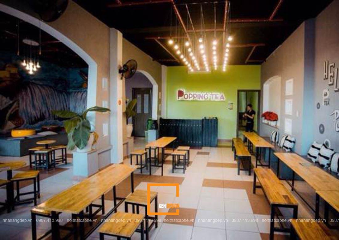 thiết kế quán trà sữa tại Đà Nẵng