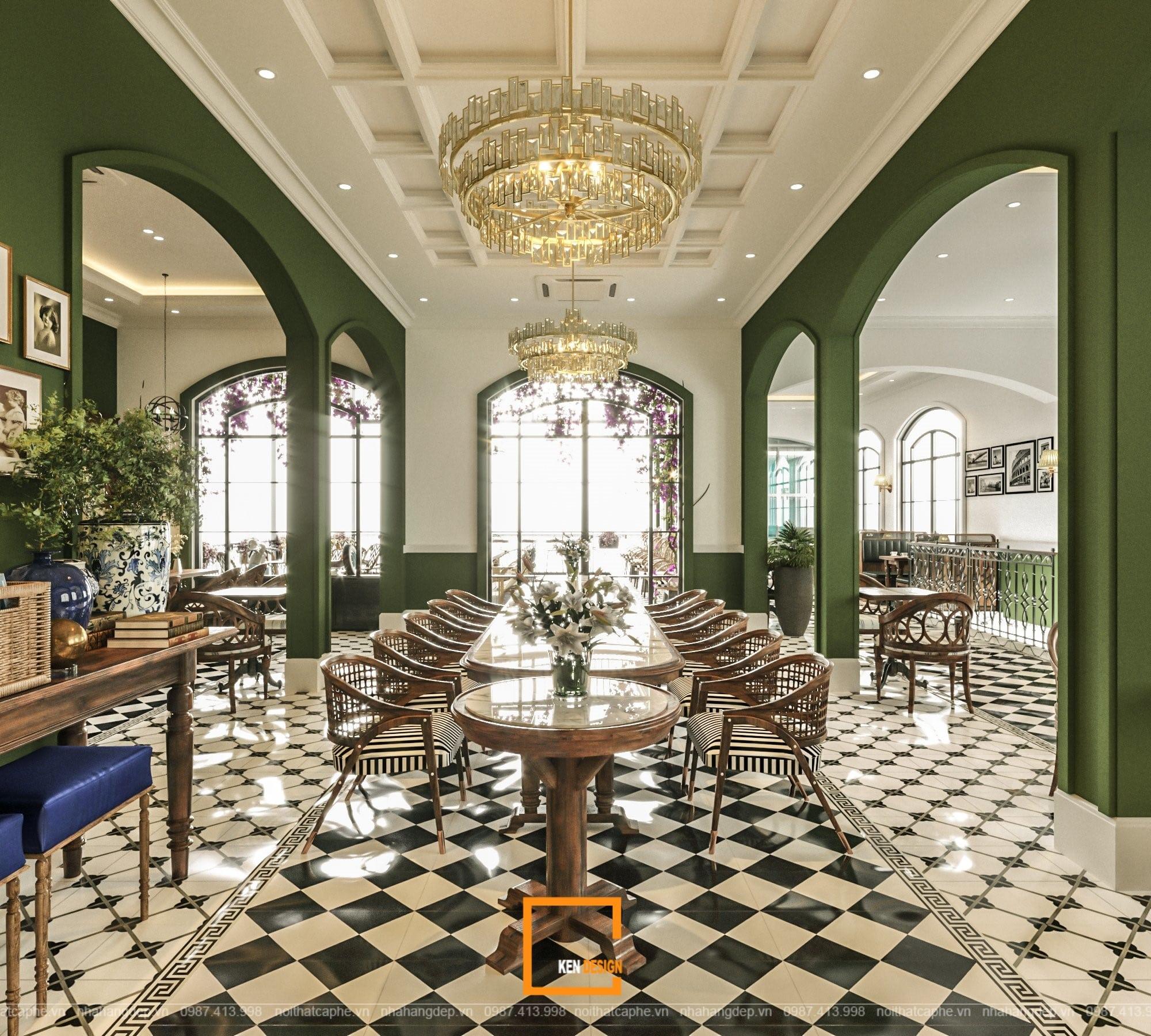 Dự án thiết kế Boutique Coffee phong cách tân cổ điển Châu Âu