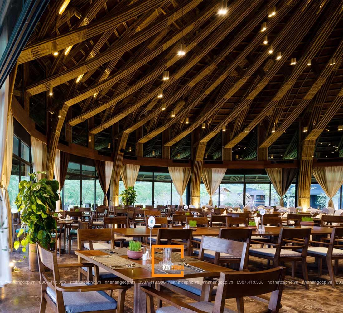 thiết kế nhà hàng truyền thống bằng tre