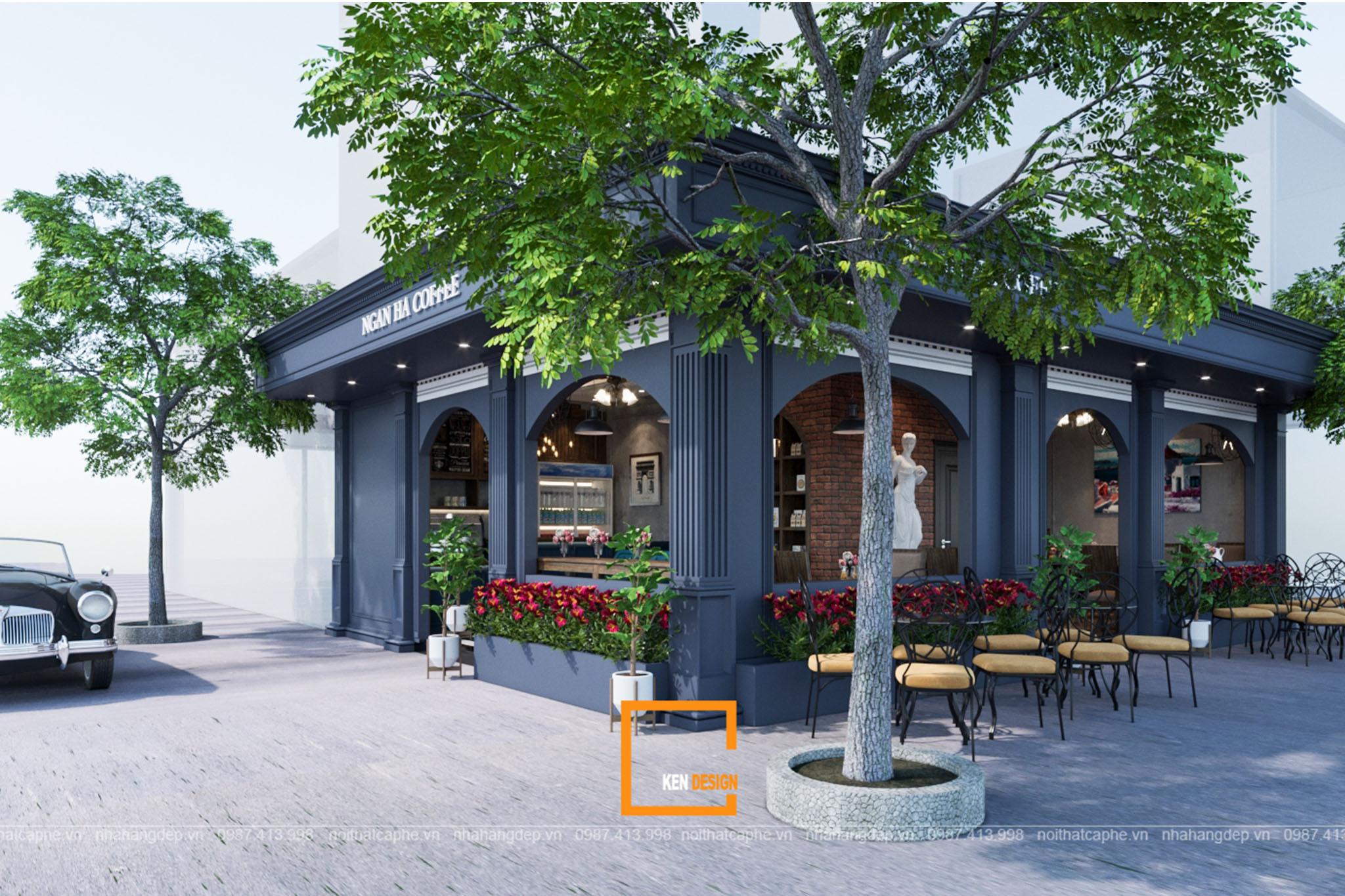 Thiết kế quán cafe tân cổ điển – Sự quyến rũ của lối kiến trúc Châu Âu