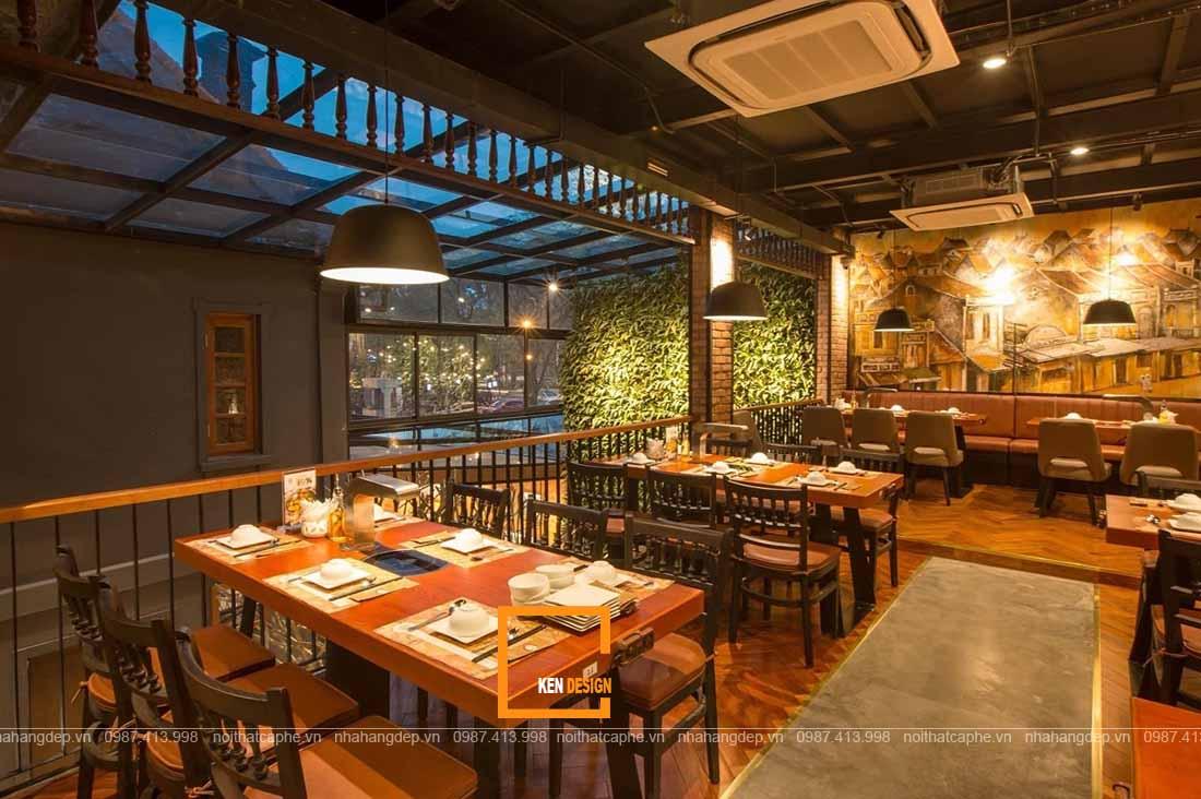 thiết kế nhà hàng phong cách Đông Dương ấn tượng