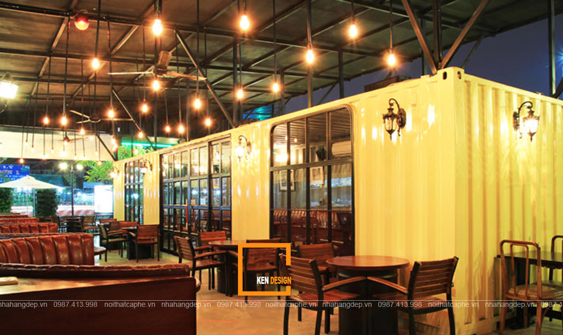 thiết kế nhà hàng container tại Hà Nội