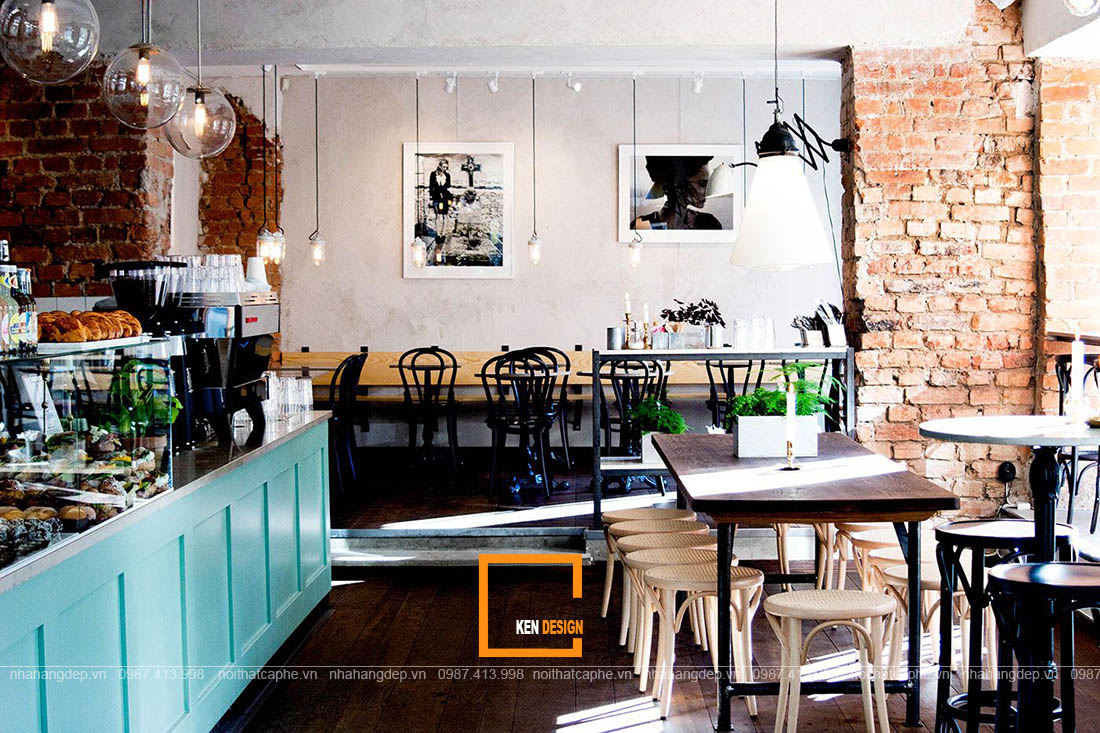 mẫu thiết kế nhà hàng phong cách Bắc Âu