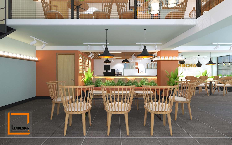 Thiết kế quán trà sữa FinnCha