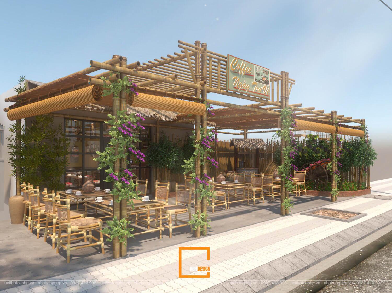 Thiết kế quán cafe Ngày trở về