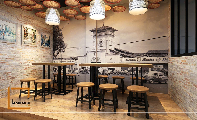 Thiết kế quán bún đậu Phất Lộc