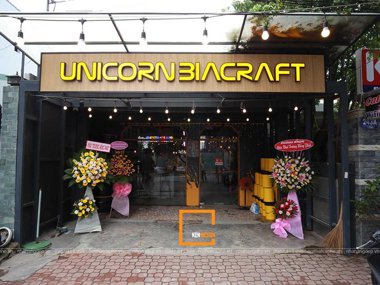 Thi công quán bia UNICORN BIACRAFT