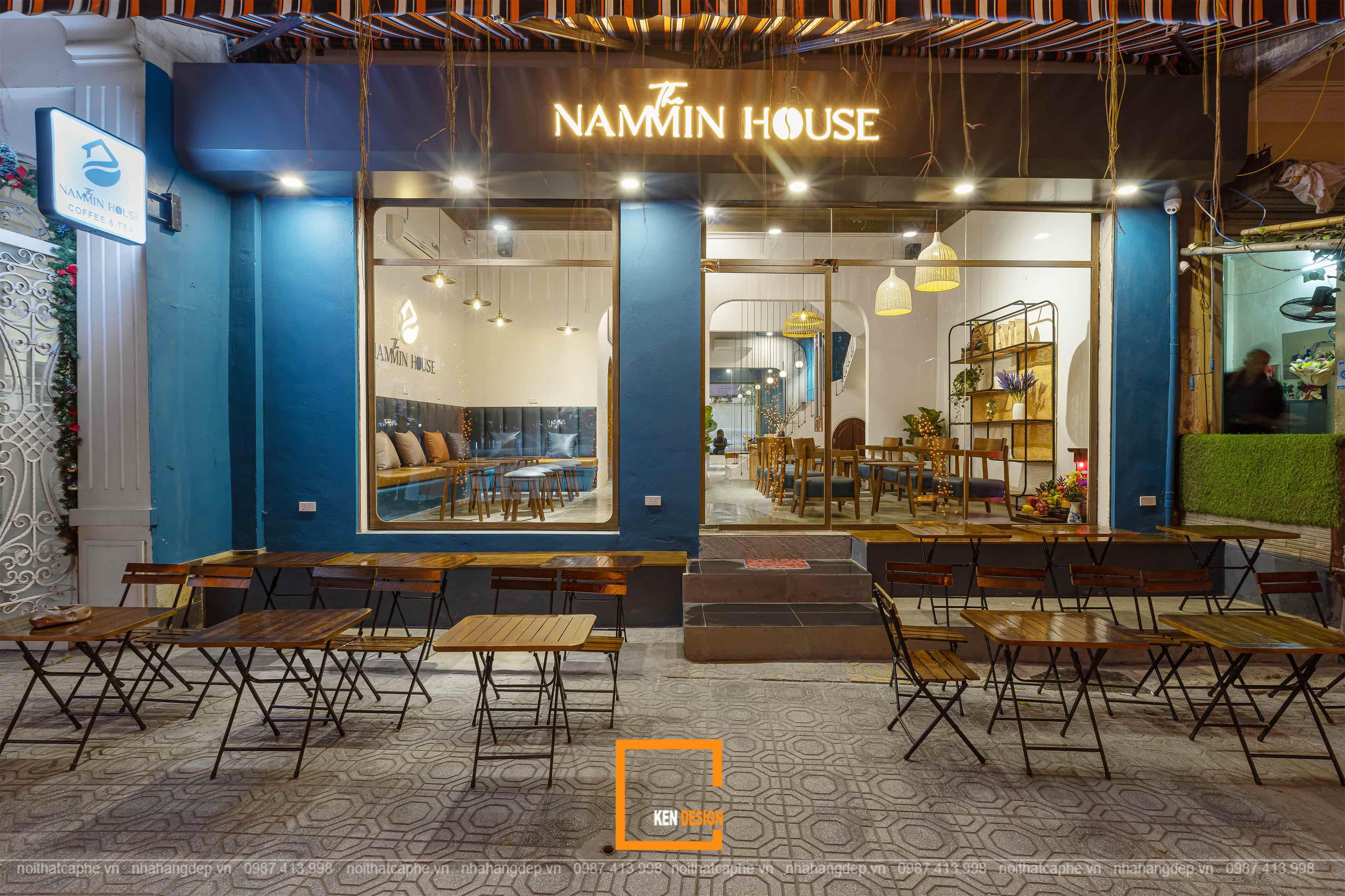 Dự Án quán Cafe The Nammin House - KenDesign