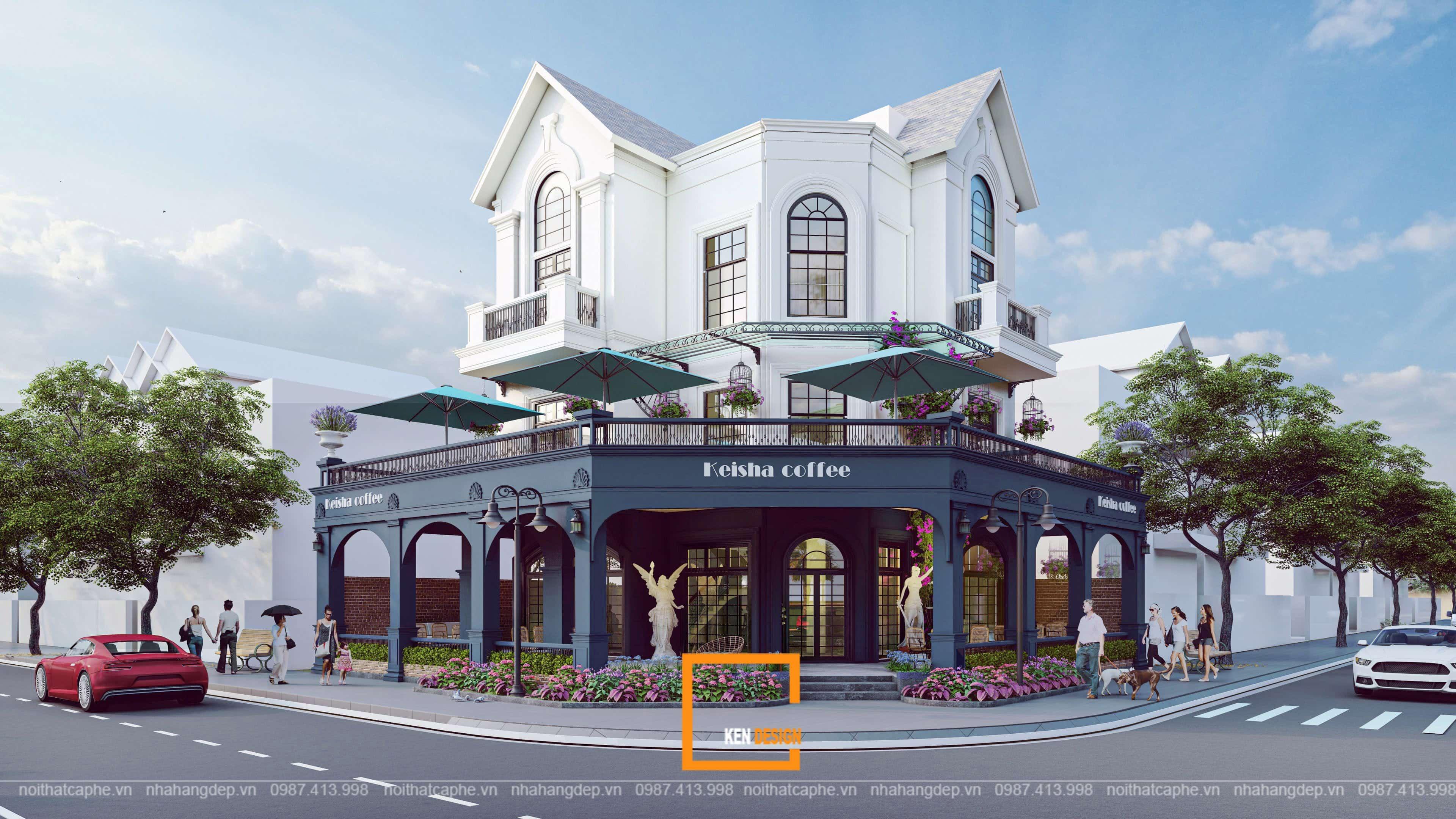 Thiết kế Cafe Phố Wall - một châu Âu giữa thành phố biển hồ