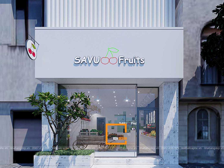 Thiết kế Mini Market Savu Fruits
