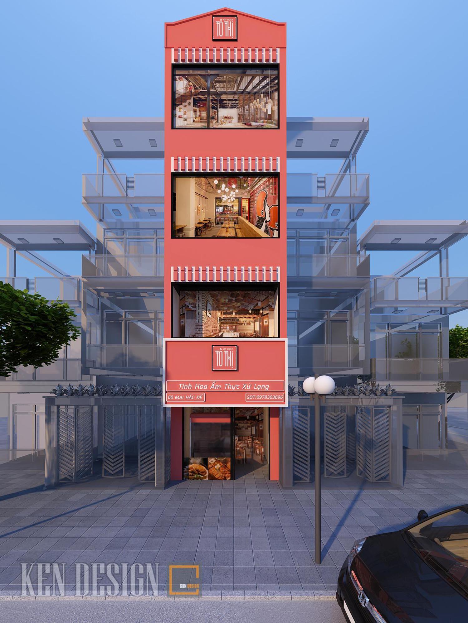 Thiết kế nhà hàng Vịt quay Tô Thị