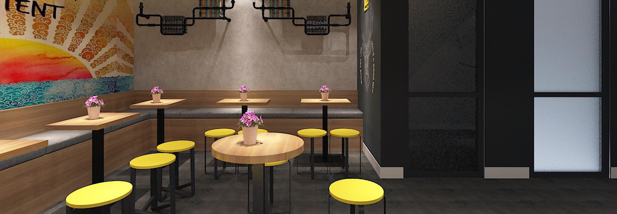 Thiết kế quán trà sữa Tubo Tea