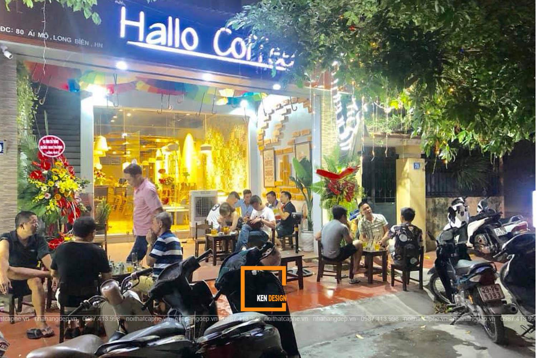 Thi công quán Hallo Coffee