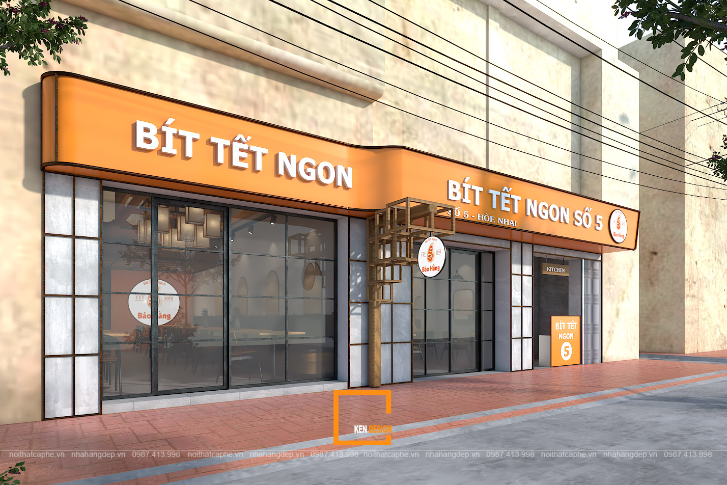 Thiết kế nhà hàng bò bít tết Bảo Hằng
