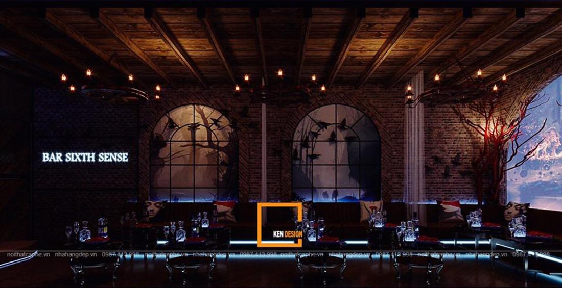 Thiết kế quán Bar Sixth Sense – giai điệu hoang dã nơi thành phố