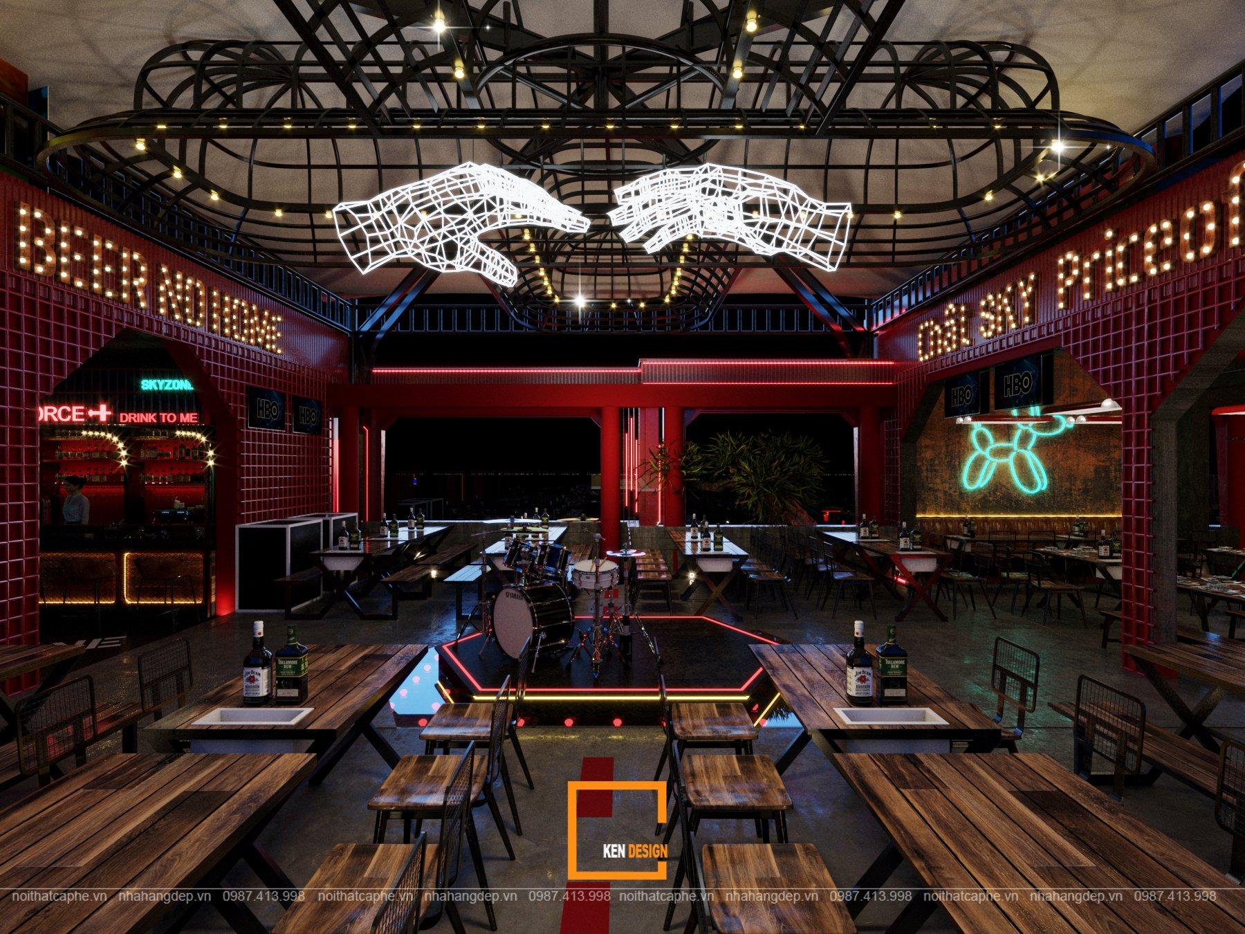Thiết kế beer club Skyzone - Cuốn hút và khác biệt