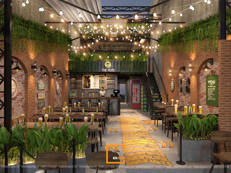 Thiết kế nhà hàng beer The Hubs