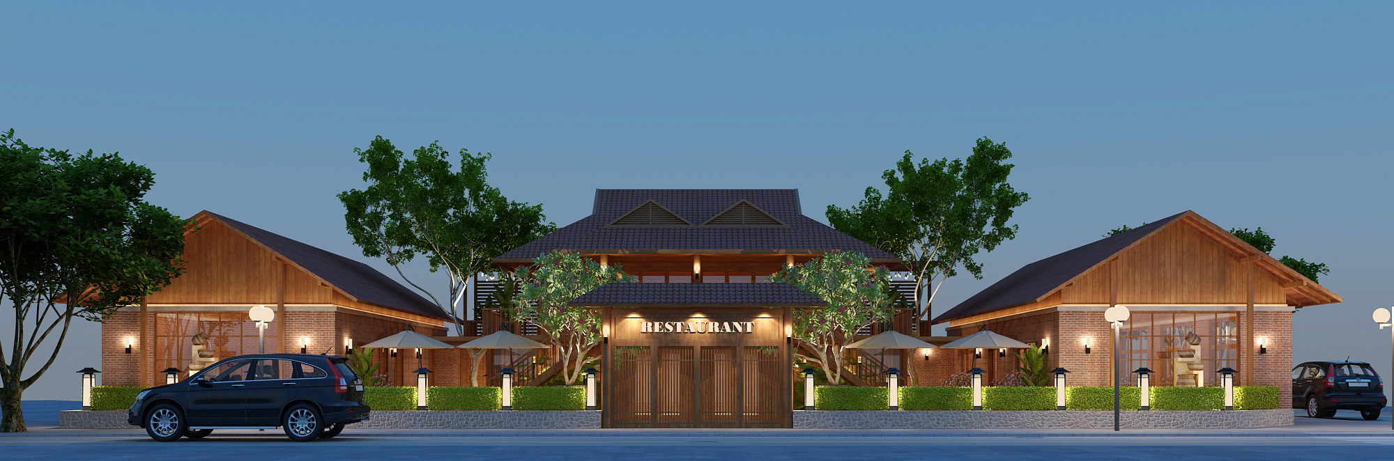 Thiết kế nhà hàng Tây Bắc Quán