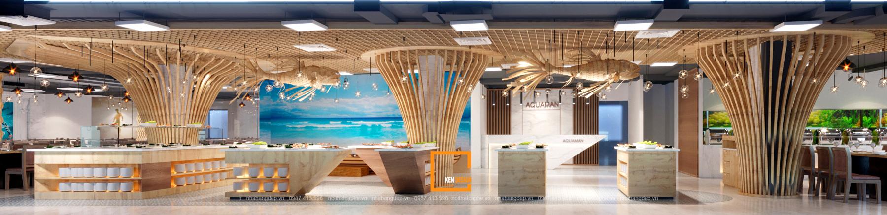 Thiết kế nhà hàng Buffet Aquanman