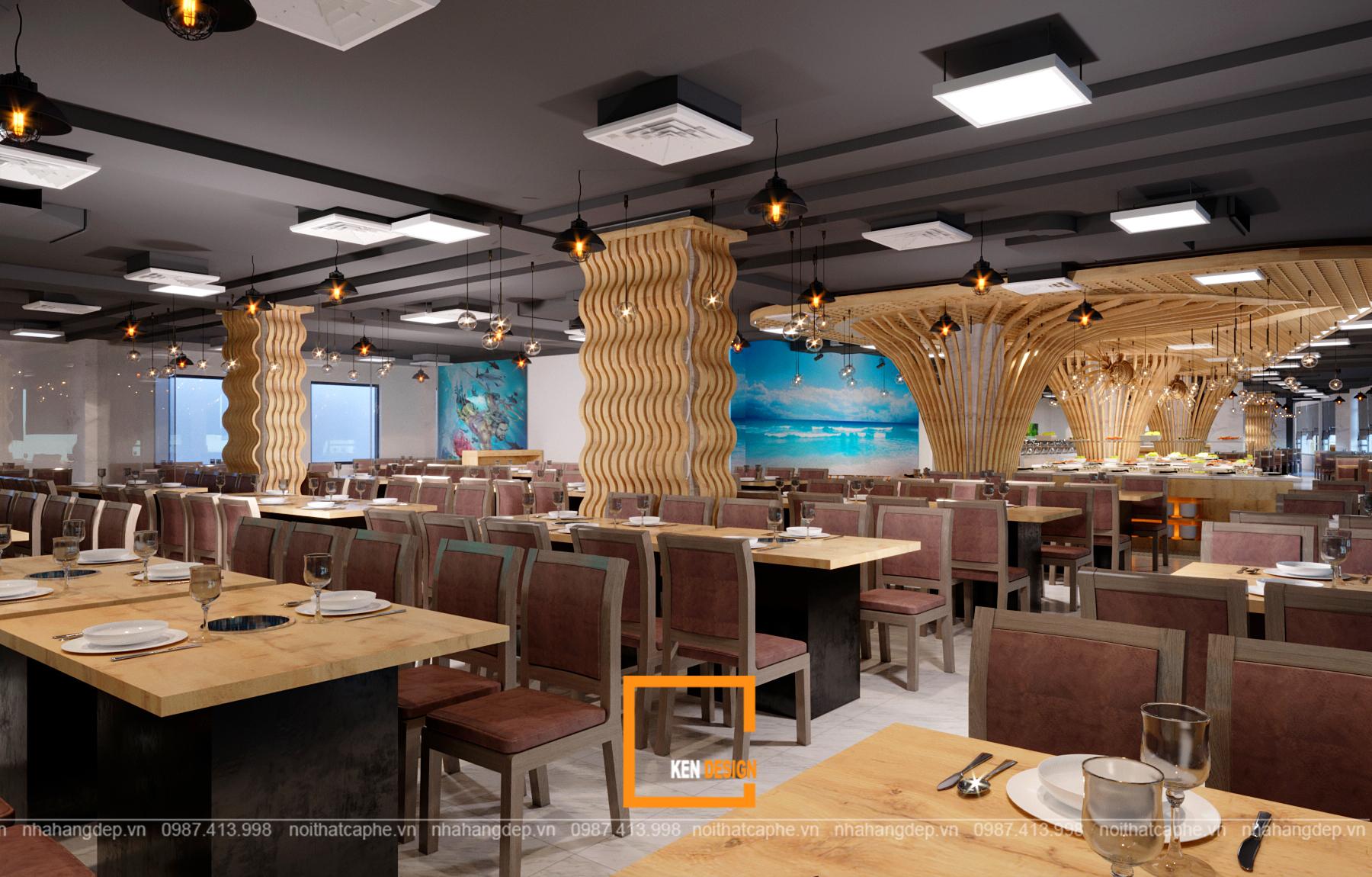 thiết kế nhà hàng hải sản biển