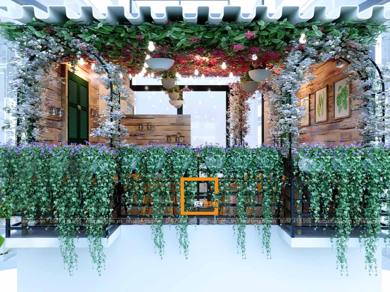 Thiết kế quán cafe hoa