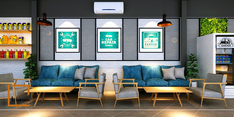 Thiết kế quán cafe phòng chờ
