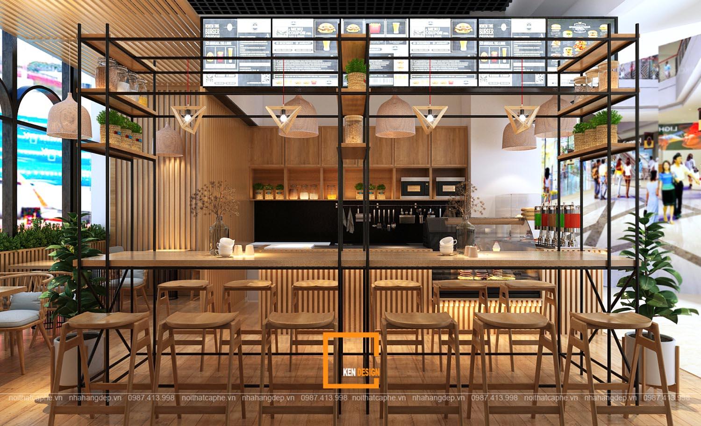 Thiết kế quán cafe tại sân bay Nội Bài