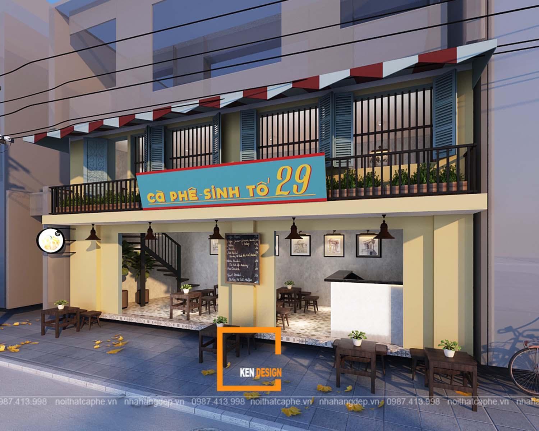 Thiết kế quán cafe sinh tố 29 Trần Bình Trọng