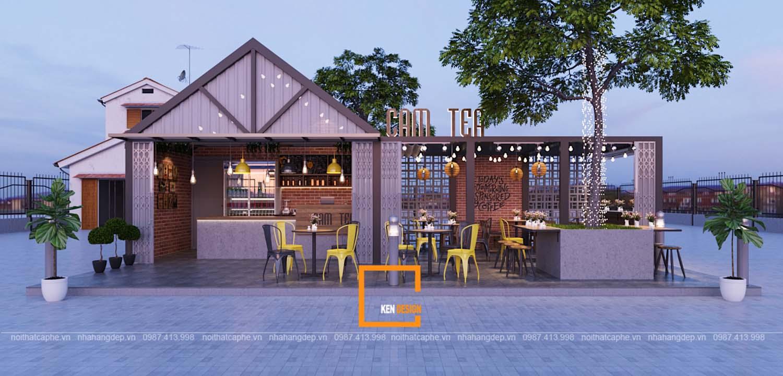 Thiết kế quán Cẩm Tea