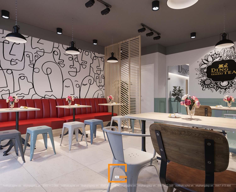 Thiết kế quán trà sữa Ding Tea