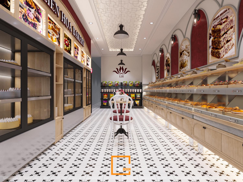 thiết kế cửa hàng bánh
