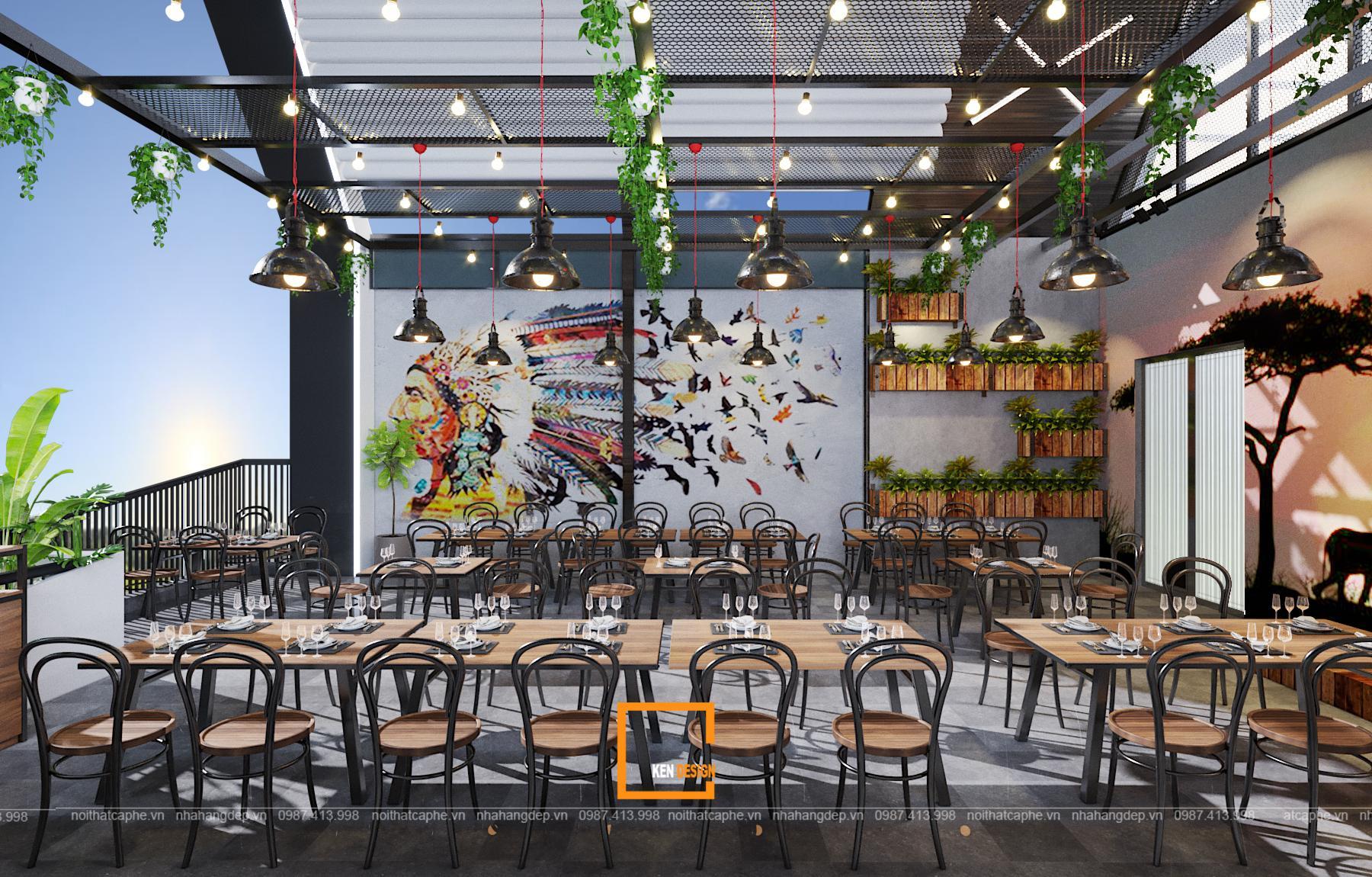 thiết kế nhà hàng beer Sapphire