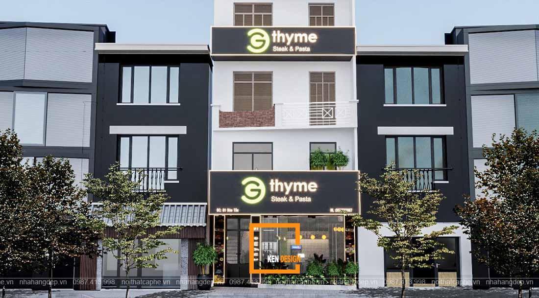 Thiết kế nhà hàng GTHYME  – chuyên Steak & Pasta tại Đào Tấn