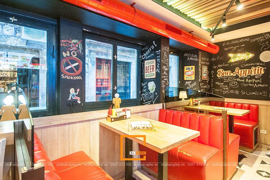 Bí quyết để tạo nên một thiết kế chuỗi nhà hàng fastfood thu hút
