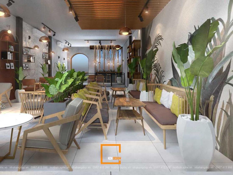 thiết kế quán cafe không gian hẹp