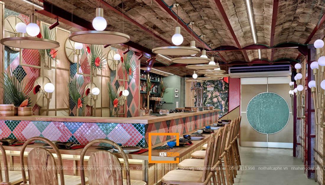 trang trí nhà hàng phong cách nhiệt đới