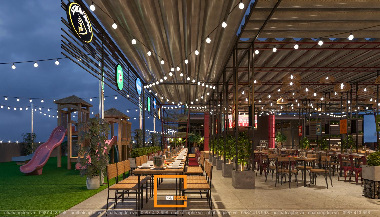 mẫu thiết kế nhà hàng tại Hà Nội
