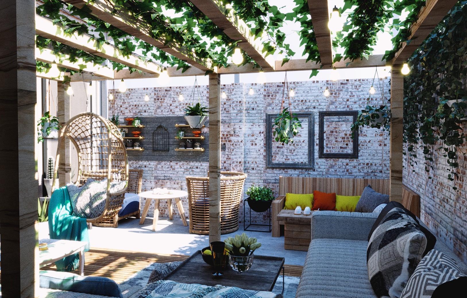 thiết kế quán cafe không gian mở,