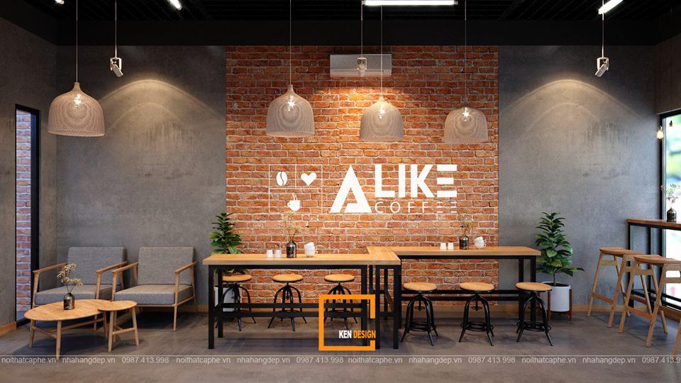 Gợi ý thiết kế quán cafe phong cách Industrial đúng tiêu chuẩn