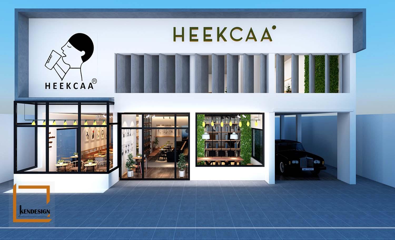 Thiết kế quán trà sữa Heekcaa Campuchia