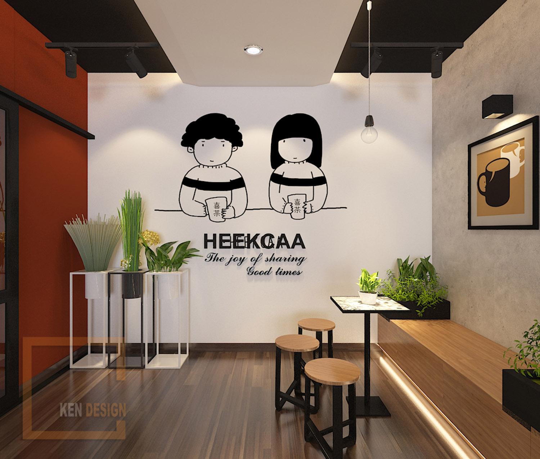 Thiết kế trà sữa Heekcaa