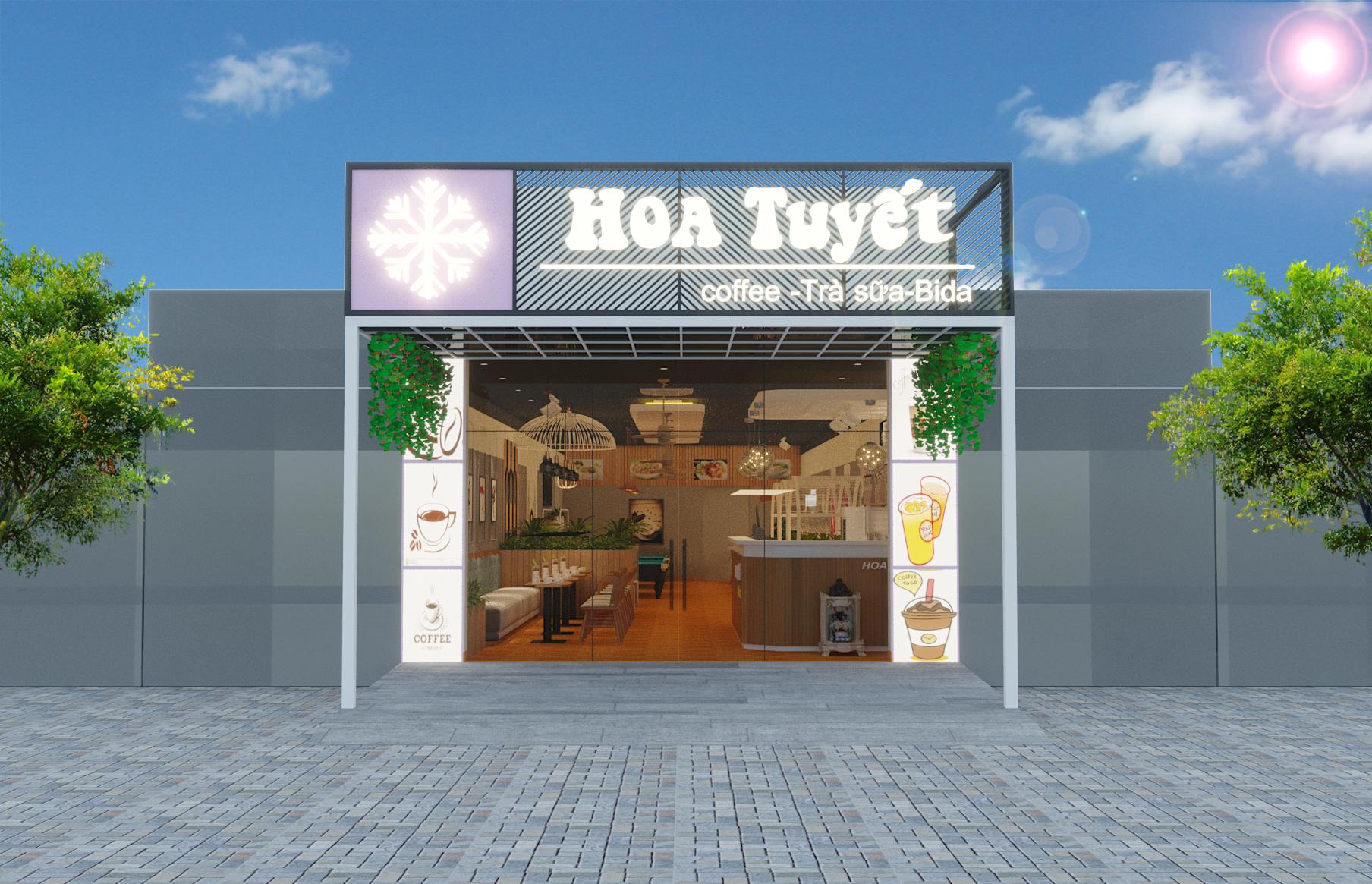 Thiết kế quán Hoa Tuyết Coffee &Tea