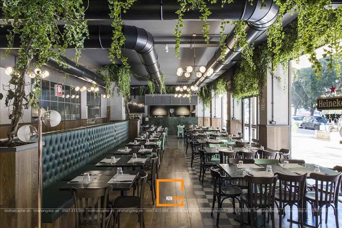 thiết kế hệ thống nhà hàng phong cách công nghiệp