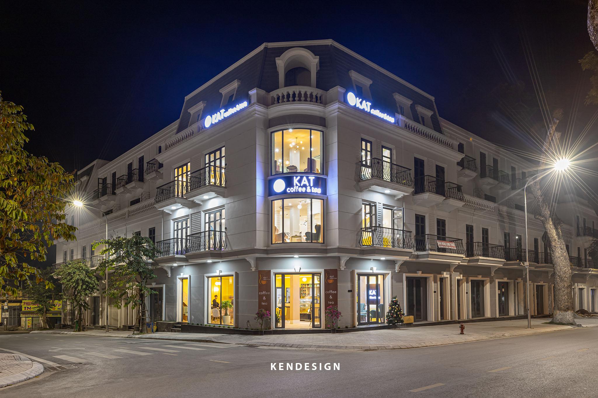 Thi công quán café KAT coffee Vincom Phú Thọ - phong cách hiện đại trẻ trung