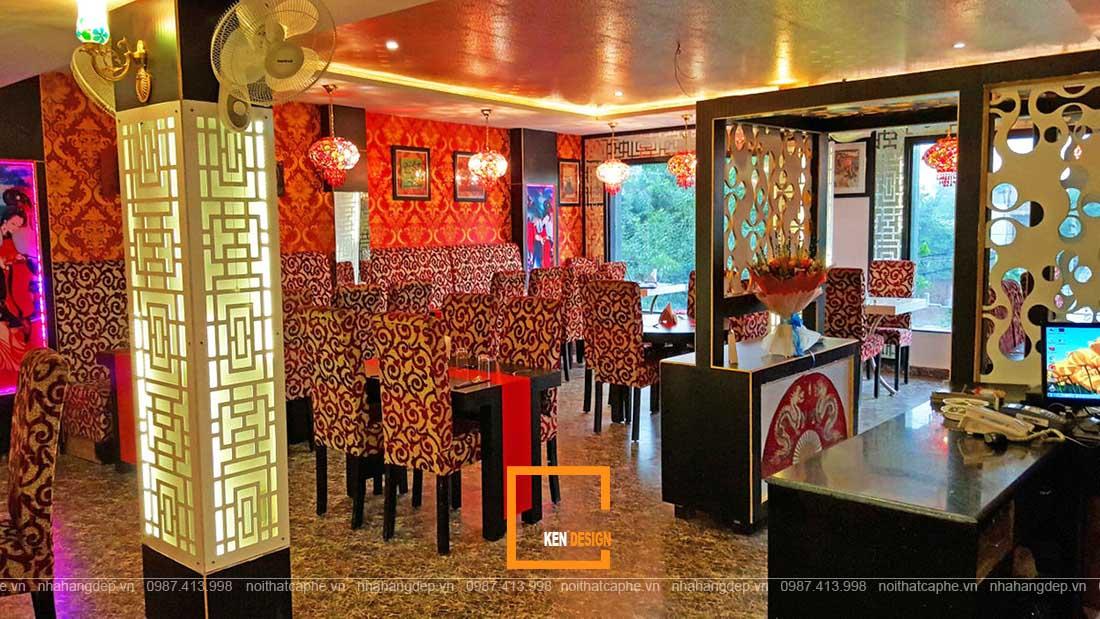 thiết kế nhà hàng kiểu Trung Quốc