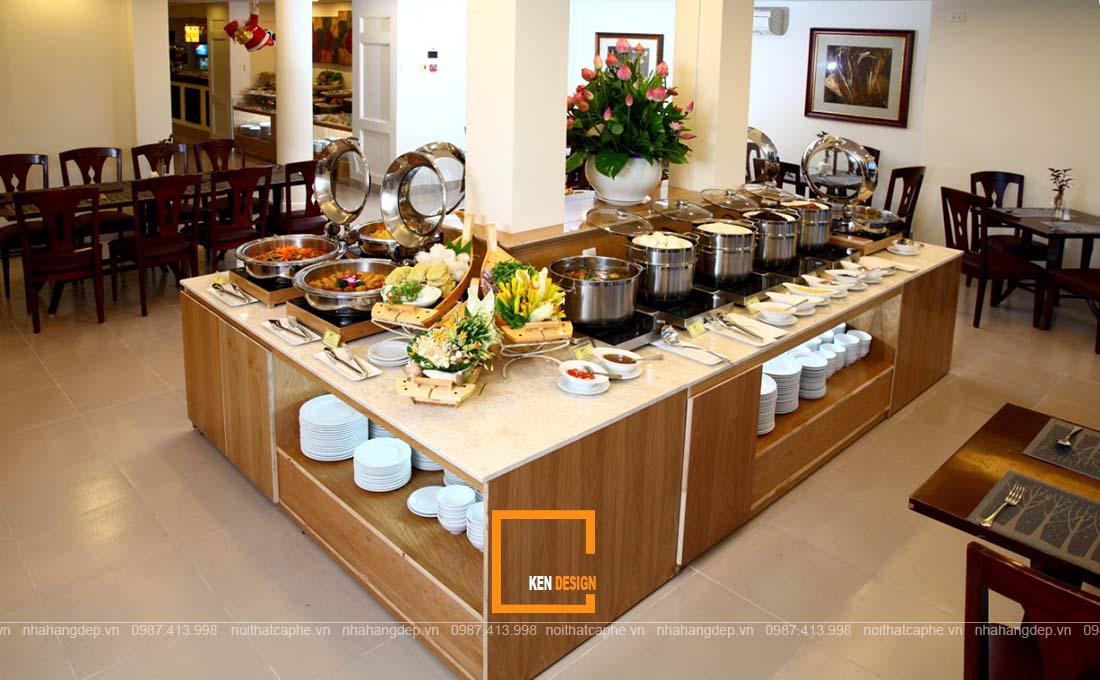 thiết kế nhà hàng buffet chay.