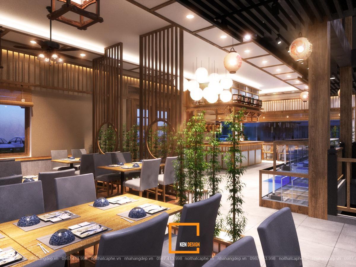 thiết kế nhà hàng Nhật Bản tại Hà Nội